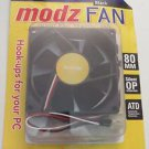 Memorex Modz FAN Black Silent OP PC Computer Case Cooling Fan 80mm x 25mm 43 CFM