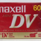 Maxell – Blank Mini DV 60 min Digital Video Cassette Tape 70.4m 60/sp 90/lp NEW