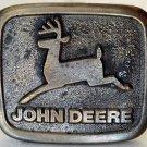 Vintage JOHN DEERE Tractor Belt Buckle Wyoming Studio Art Works Brass 3 x 2.5 in