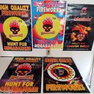 Lot x5 Fireworks Modern Poster Five Firecrackers MegaBanger Great Grizzly #2