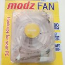 Memorex Modz FAN Clear Blue LED PC Computer Case Cooling Fan 80mm x 25mm 41 CFM