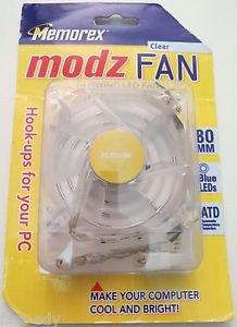 Memorex Modz FAN Clear Blue LED PC Computer Case Cooling Fan 80mm x 25mm 41 CFM