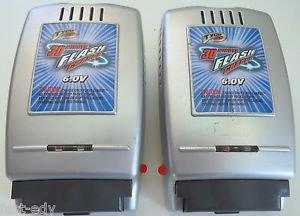 Lot of 2 Tyco R/C Flash Charger 30 Minute 6.0V Volt Model #38333 Mattel
