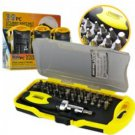 A.E Electronics 39PC Stubby Ratchet Screwdriver