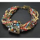 Jewelrycut Vintage TIBETAN COPPER MULTI-STONE BRACELET