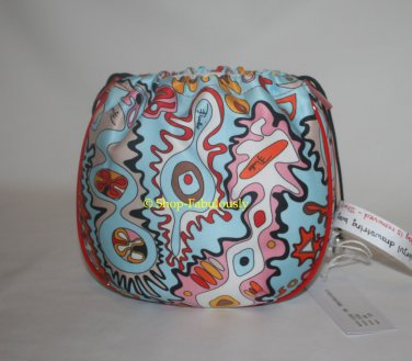 New Authentic EMILIO PUCCI Satin Lk Red Patent Leather Cosmetic Bag Clutch Purse - FREE US Shipping
