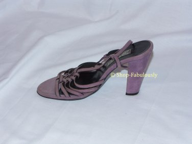 New Authentic CASADEI Sexy Purple Suede STRAPPY Slingbacks Sandals Shoes 6 36 - FREE US Ship
