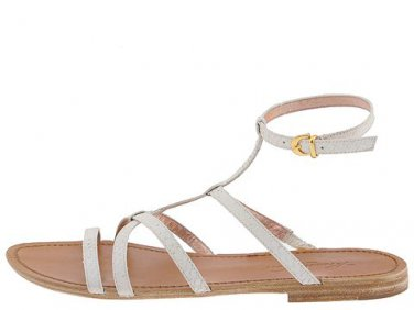New KENNETH COLE White Leather PY BABY Flat Gladiator Sandals Shoes 5.5 - FREE US Ship