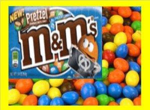 7.5 lbs M&M Pretzel Bulk Candy FREE Labels & Ship