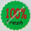 12 100% FRESH Stickers Bulk Vending Labels