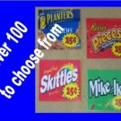 12  laminated  VENDING candy labels WITH PRICE