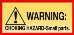 12 CHOKE HAZARD WARNING Stickers Bulk Vending Labels
