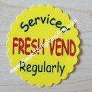 12 FRESH VEND Stickers Bulk Vending Labels