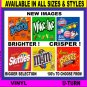 "12 Laminated  Peel  Stick 2"" x 3.25 Bulk Vending Labels"