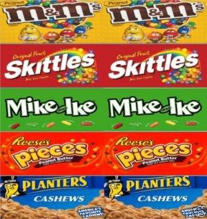 """6  Self Stick U TURN Vending candy labels (2.5"""" x 10"""")"""