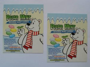 9 Jumbo Original laminated  VENDING  labels Poalr Mints