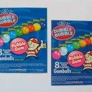 5 Jumbo Original laminated  VENDING  labels Gumballs