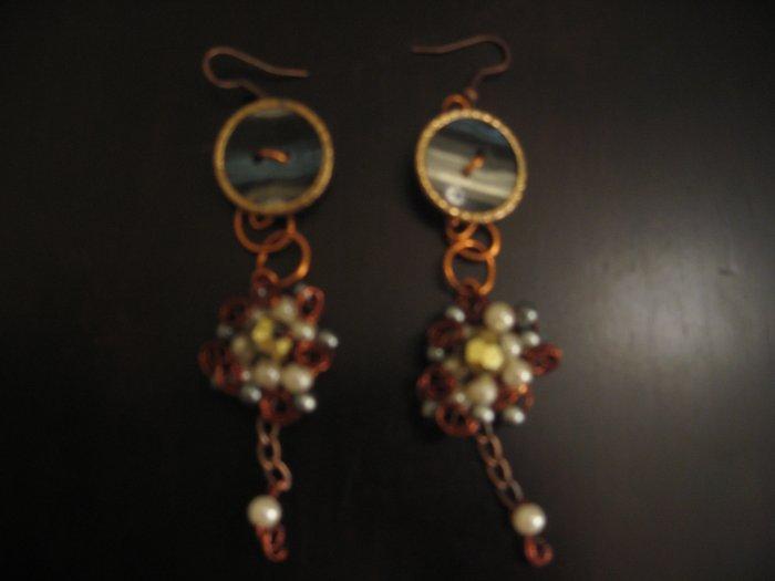 button earings