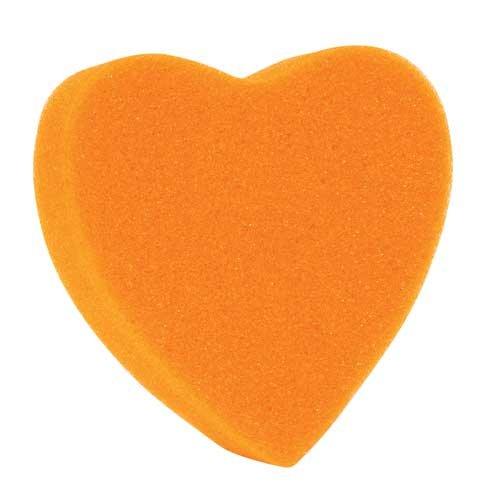 Orange Heart Shaped Sponge