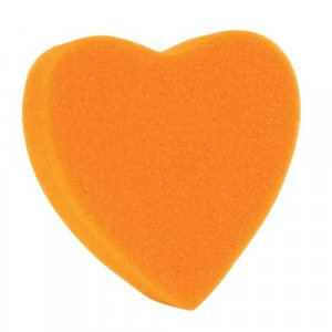 Orange Heart Shaped Sponge