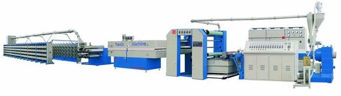 PP flat yarn extrusion line and flat yarn making machine