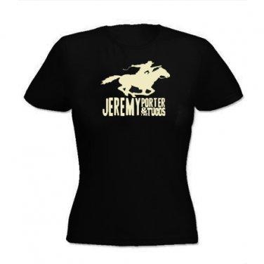 Girle-Tee - Black w/Horse Logo - Medium