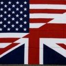American British Friendship Flag 3x5 feet Great Britain Union Jack UK US