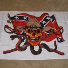 Rebel Skull Flag 3x5 feet Confederate pirate CSA banner