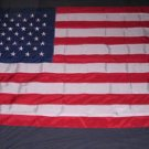 Nylon American Flag 5x8 feet USA embroidered stars Very Large!