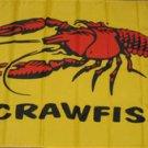 Crawfish Flag 3x5 feet Craw Fish Seafood banner sign