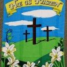He is Risen Garden Flag 28x40 inches Christian Cross Jesus Christ religion new