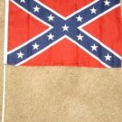 Confederate Flag 12x18 inches new Rebel banner wooden stick Civil War South