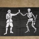 Black Bart Pirate Flag 3x5 feet skeleton banner new