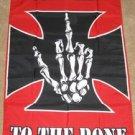 Rebel to the Bone Flag 3x5 feet Iron Cross skeleton new