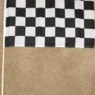Checkered Flag 12x18 incehs Finish Line banner wooden stick new checker