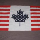 USA Canada Friendship Flag 3x5 feet American Canadian banner new sign US half