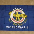 WWII Veterans Flag 3x5 feet World War 2 Vets memorial