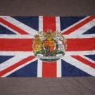 British Coronation Flag 3x5 feet Union Jack British Crest Great Britain UK new