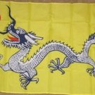 Dragon Flag 3x5 feet Yellow China Chinese Asia Asian