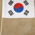South Korean Flag 12x18 inches Korean banner wooden stick new