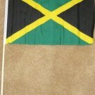 Jamaica Flag 12x18 inches Jamaican banner wooden stick
