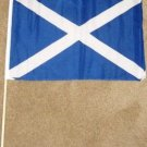 St Andrew's Cross Flag 12x18 inches Scotland banner wooden stick