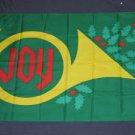 Joy Flag 3x5 feet Christmas Horn banner merry xmas holly new holiday season