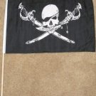Brethren of the Coast Flag 12x18 inches Pirate banner Jolly Roger wooden stick