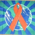 AIDS Awareness Flag 3x5 feet red ribbon banner earth world new