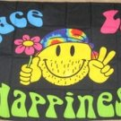Peace Love Happiness Flag 3x5 feet Smiley Face smile