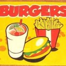Burger Stand Flag 3x5 feet French Fries restaurant sign