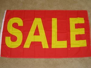 Sale Flag 3x5 feet red & yellow advertising banner promotional sign new