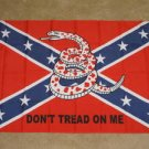 Confederate Don't Tread on Me Flag 3x5 Rebel Tea Party