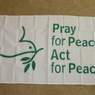 Pray for Peace Flag 3x5 feet Dove Olive Branch act new